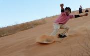 فعاليات التزلج على الرمال ضمن فعاليات مهرجان الصحراء الدولي بحائل