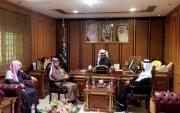 """""""الدهام"""" رئيس بلدية #جبة المكلف يستقبل لجنة جبة الثقافية"""