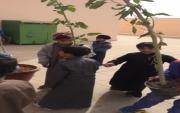 مدرسة القبلتين تطلق فعاليات إسبوع الشجرة ب #جبة