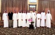 زيارة رئيس ومنسوبو نادي جبة للشيخ موفق المرعيد وتهنئته بالسلامة