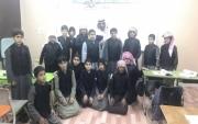 قائد مدرسة طارق بن زياد بجبة يدشن قاعتي الشيخ عبدالعزيز الفرحان التعليمية